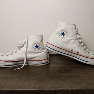 Classic White Converse All Stars Hi-tops